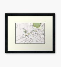 Coffee Shop Garden Framed Print