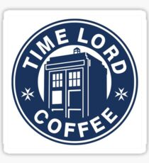 Dr Who Coffee Tardis Sticker