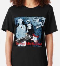 The Single Bullet Blues Band Slim Fit T-Shirt