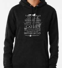 Catleesi- Mother of Cats- White on Black version Pullover Hoodie