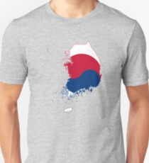 Flag Map of South Korea  T-Shirt
