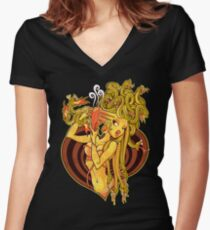 Dire Straights Women's Fitted V-Neck T-Shirt