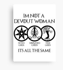 Devout Woman Canvas Print