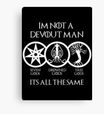 Devout Man (Dark) Canvas Print