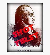 Aaron Burr Shot First - Hamilton on Broadway, Star Wars Mash-up Photographic Print