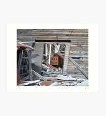 Abandoned Independence Mine Structure (Wasilla, Alaska) Art Print
