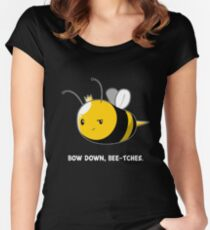 Bow Down Bee-tches Women's Fitted Scoop T-Shirt