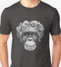 Chimp with rose crown T-Shirt