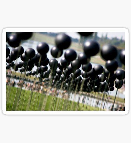 Shiny Black Balls Sticker
