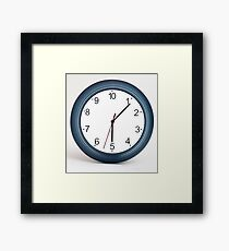 A mad 10 hour clock. Humourous Framed Print