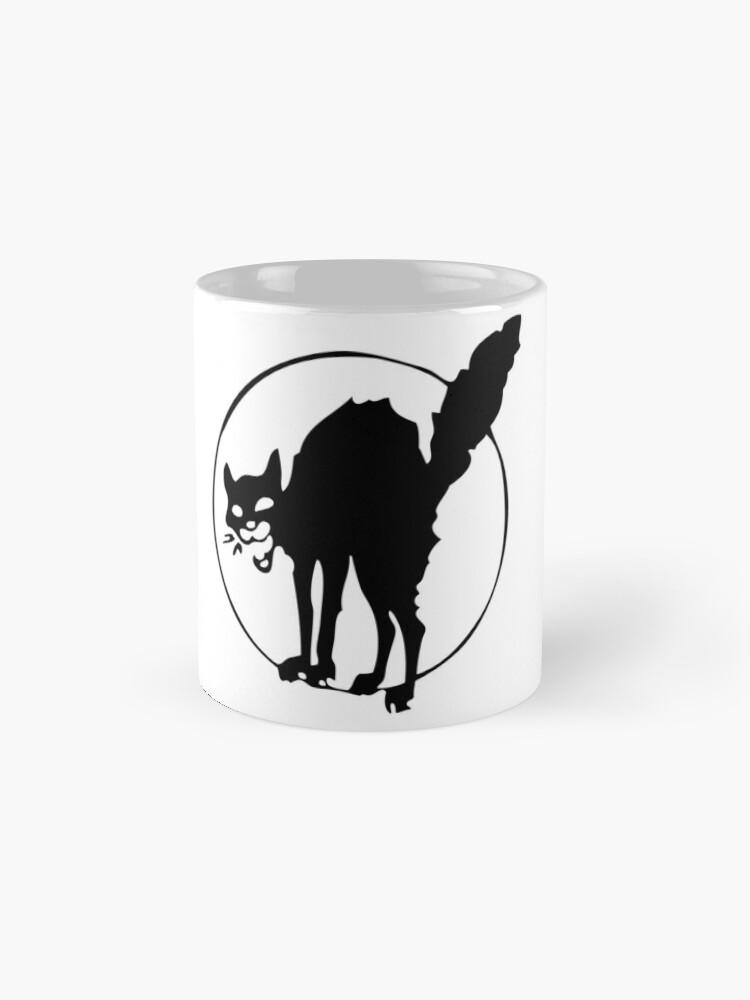 Alternate view of Anarchist black cat Mug