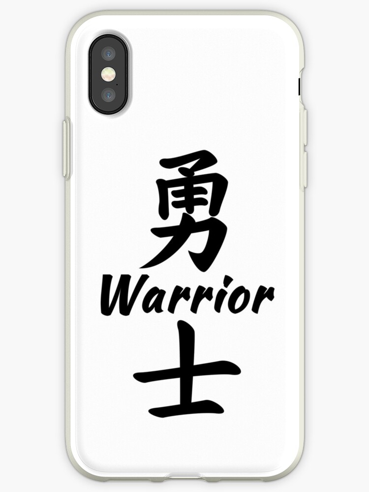 Warrior In Chinese Iphone Cases Covers By Jshek8188 Redbubble