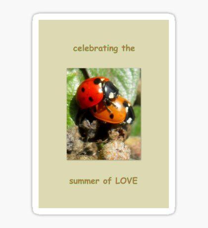 Celebrating the summer of LOVE Sticker