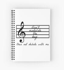 Cuaderno de espiral No modifique la clave