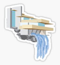 Fallingwater - Frank Lloyd Wright (1939) Sticker
