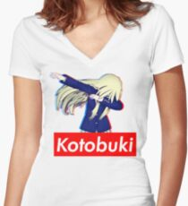 Kotobuki Is Supreme Women's Fitted V-Neck T-Shirt