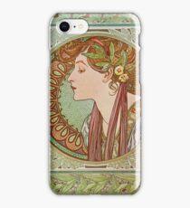 Alphonse Mucha - Laurel  iPhone Case/Skin