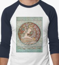 Alphonse Mucha - Ivy  Men's Baseball ¾ T-Shirt
