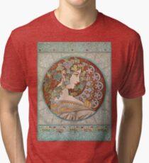 Alphonse Mucha - Ivy  Tri-blend T-Shirt