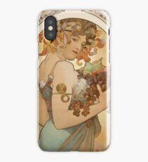 Alphonse Mucha - Fruit  iPhone Case/Skin