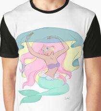 Graceful Mermaid Graphic T-Shirt