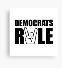 Democrats Rule Canvas Print