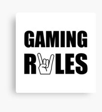 Gaming Rules Canvas Print