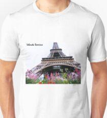 paris flowers snoopy Unisex T-Shirt