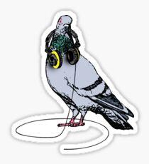 Techno Pigeon Sticker