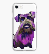 Purple Schnauzer Art iPhone Case/Skin
