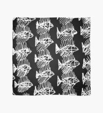 Black and White Abstract Fish Art Tote Bag Scarf