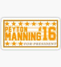 Peyton Manning para el presidente Campaign Sticker Pegatina