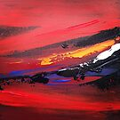 Abstract Sunset by Adam Regester