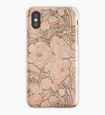 Mucha Peonies Apricot iPhone Case
