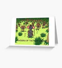 RAIDERS OF THE LOST CHEESE Greeting Card