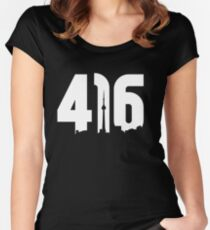 416 logo with Toronto skyline Women's Fitted Scoop T-Shirt