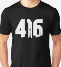 416 logo with Toronto skyline T-Shirt