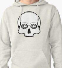 Defy Danger Skull - White Pullover Hoodie