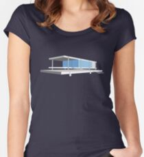Farnsworth House - Ludwig Mies van der Rohe (1951) Women's Fitted Scoop T-Shirt