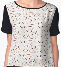 Eggs and Bacon with Spoons Chiffon Top