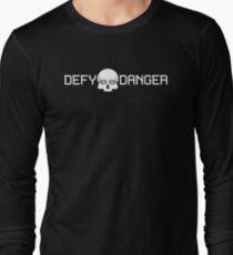 Defy Danger Logo - Black Long Sleeve T-Shirt