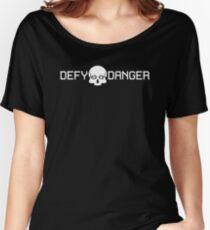 Defy Danger Logo - Black Women's Relaxed Fit T-Shirt