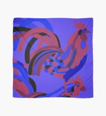 Rooster Abstract Art Blue iPad Cover Scarf