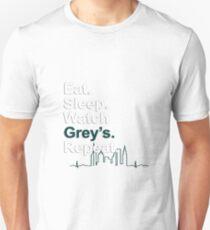 Eat, Sleep, Watch Grey's, Repeat {FULL} Unisex T-Shirt