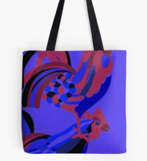 Rooster Abstract Art Blue iPad Cover Tote Bag