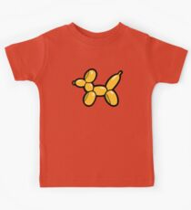 Balloon Animal Dogs Pattern in Red Kids Tee