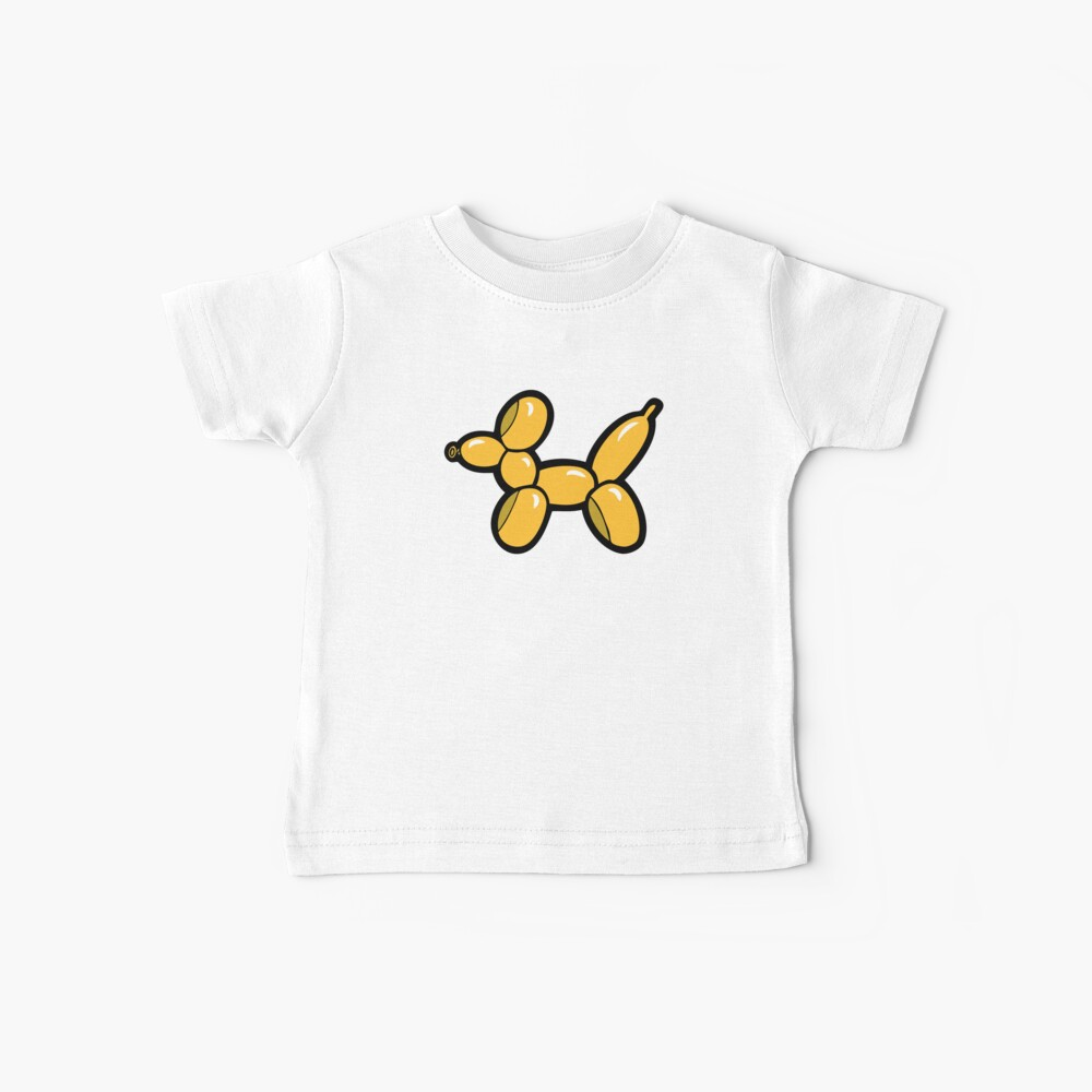 Balloon Animal Dogs Pattern in Red Baby T-Shirt