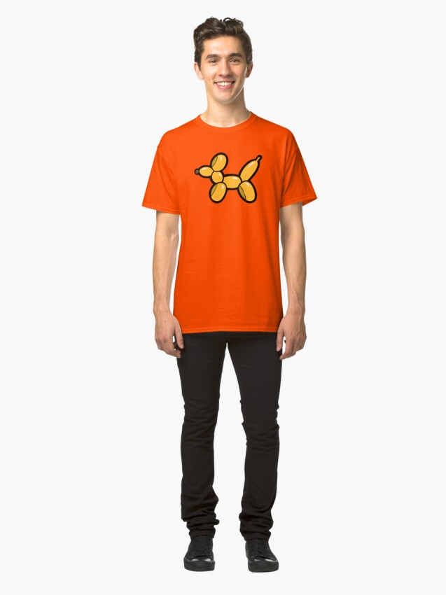Alternate view of Balloon Animal Dogs Pattern in Red Classic T-Shirt