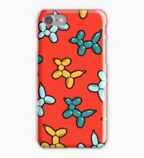 Balloon Animal Dogs Pattern in Red iPhone Case/Skin