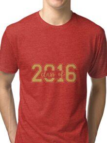 Modern Text Design Graduation Class Of 2016 Gold Glitter Tri-blend T-Shirt